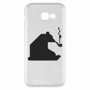 Etui na Samsung A5 2017 Niedźwiedź z fajką