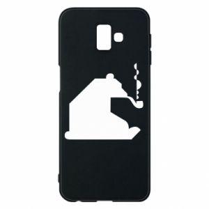 Etui na Samsung J6 Plus 2018 Niedźwiedź z fajką