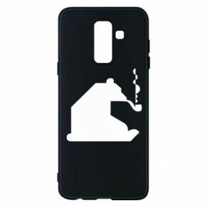 Etui na Samsung A6+ 2018 Niedźwiedź z fajką