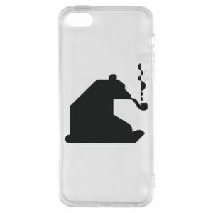 Etui na iPhone 5/5S/SE Niedźwiedź z fajką