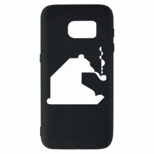 Etui na Samsung S7 Niedźwiedź z fajką