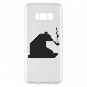 Etui na Samsung S8 Niedźwiedź z fajką