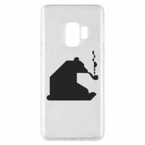 Etui na Samsung S9 Niedźwiedź z fajką