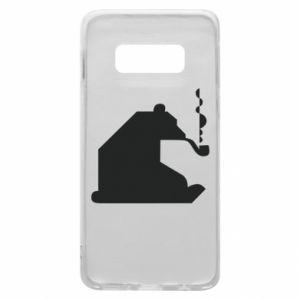Etui na Samsung S10e Niedźwiedź z fajką