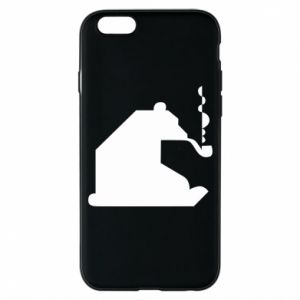 Etui na iPhone 6/6S Niedźwiedź z fajką