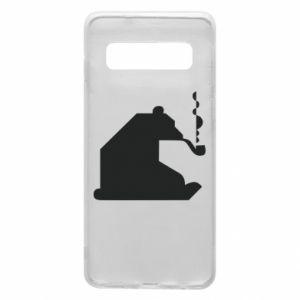Etui na Samsung S10 Niedźwiedź z fajką