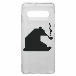 Etui na Samsung S10+ Niedźwiedź z fajką