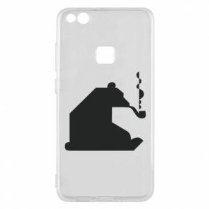Etui na Huawei P10 Lite Niedźwiedź z fajką