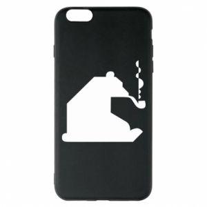 Etui na iPhone 6 Plus/6S Plus Niedźwiedź z fajką