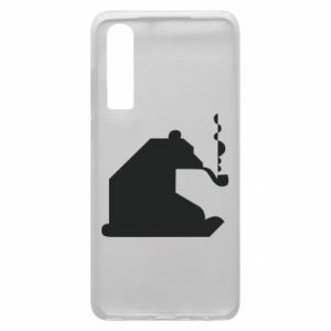 Etui na Huawei P30 Niedźwiedź z fajką