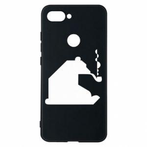 Etui na Xiaomi Mi8 Lite Niedźwiedź z fajką