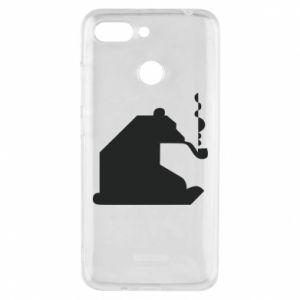 Etui na Xiaomi Redmi 6 Niedźwiedź z fajką