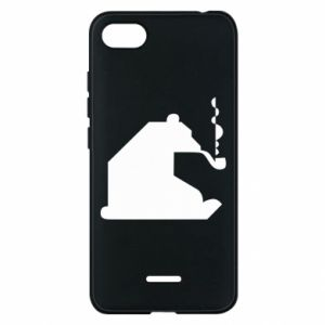 Phone case for Xiaomi Redmi 6A Bear with a pipe