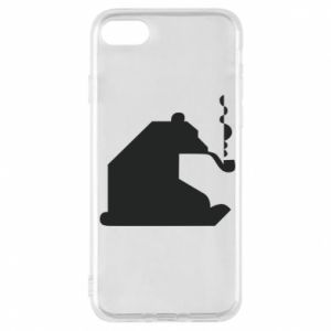 Etui na iPhone 7 Niedźwiedź z fajką