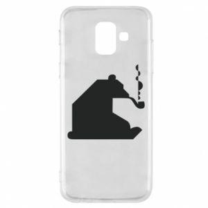 Etui na Samsung A6 2018 Niedźwiedź z fajką