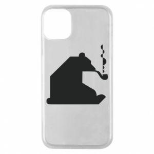 Etui na iPhone 11 Pro Niedźwiedź z fajką