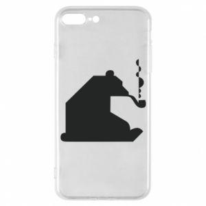 Etui na iPhone 7 Plus Niedźwiedź z fajką