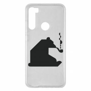 Etui na Xiaomi Redmi Note 8 Niedźwiedź z fajką