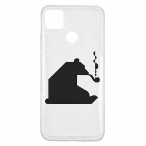 Etui na Xiaomi Redmi 9c Niedźwiedź z fajką