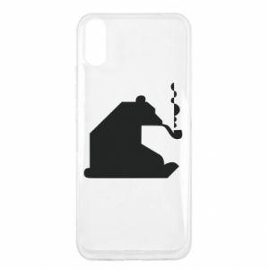 Etui na Xiaomi Redmi 9a Niedźwiedź z fajką