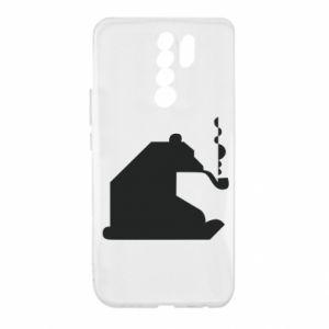 Etui na Xiaomi Redmi 9 Niedźwiedź z fajką