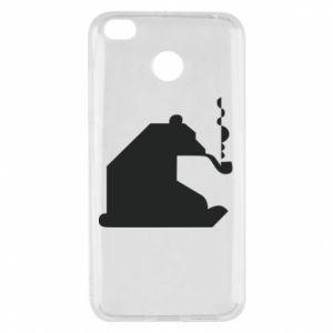 Etui na Xiaomi Redmi 4X Niedźwiedź z fajką