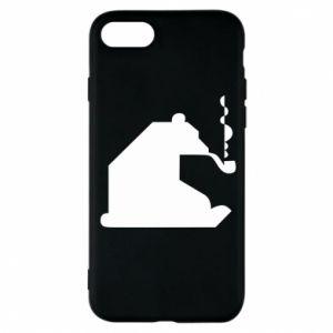 Etui na iPhone 8 Niedźwiedź z fajką