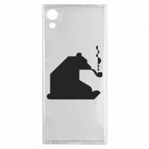 Etui na Sony Xperia XA1 Niedźwiedź z fajką