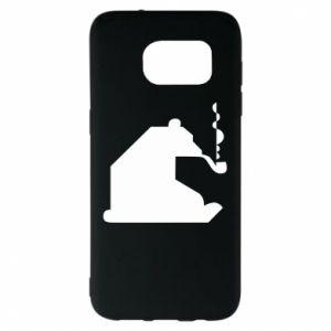 Etui na Samsung S7 EDGE Niedźwiedź z fajką