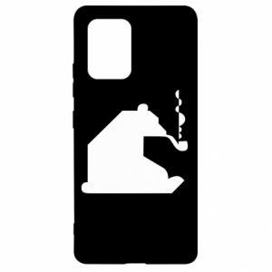Etui na Samsung S10 Lite Niedźwiedź z fajką
