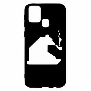 Etui na Samsung M31 Niedźwiedź z fajką