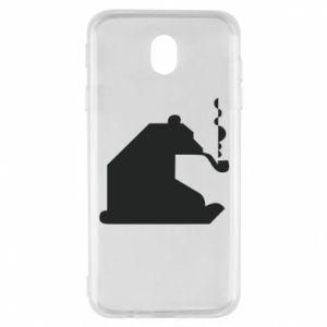 Etui na Samsung J7 2017 Niedźwiedź z fajką