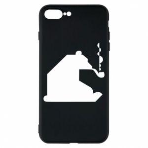 Etui na iPhone 8 Plus Niedźwiedź z fajką