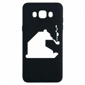 Etui na Samsung J7 2016 Niedźwiedź z fajką