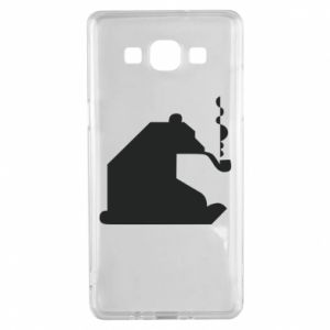 Etui na Samsung A5 2015 Niedźwiedź z fajką
