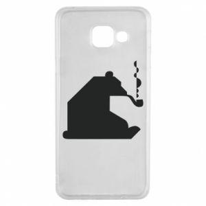 Etui na Samsung A3 2016 Niedźwiedź z fajką