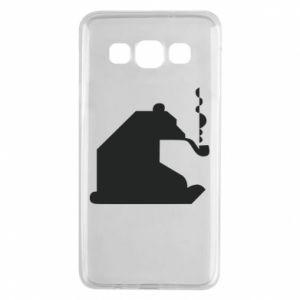 Etui na Samsung A3 2015 Niedźwiedź z fajką