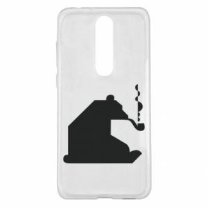 Etui na Nokia 5.1 Plus Niedźwiedź z fajką