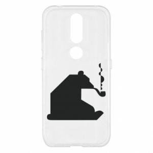 Etui na Nokia 4.2 Niedźwiedź z fajką