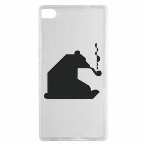 Etui na Huawei P8 Niedźwiedź z fajką