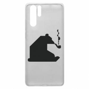 Etui na Huawei P30 Pro Niedźwiedź z fajką