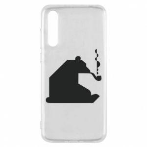 Etui na Huawei P20 Pro Niedźwiedź z fajką