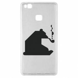 Etui na Huawei P9 Lite Niedźwiedź z fajką