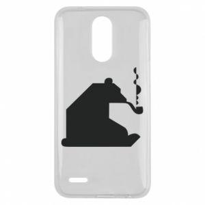 Etui na Lg K10 2017 Niedźwiedź z fajką