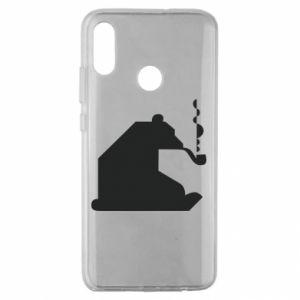 Etui na Huawei Honor 10 Lite Niedźwiedź z fajką