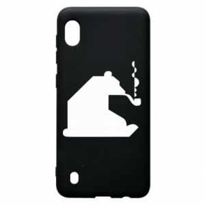 Etui na Samsung A10 Niedźwiedź z fajką