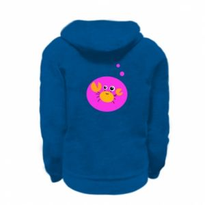 Kid's zipped hoodie % print% Baby Cancer