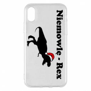 Etui na iPhone X/Xs Niemowlę - rex