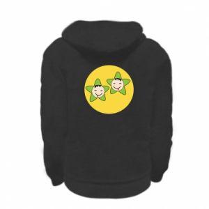 Kid's zipped hoodie % print% Baby Twins