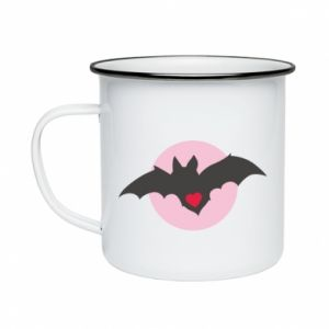 Enameled mug Bat